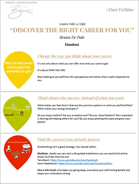 Tips - Discover the right careerforyou